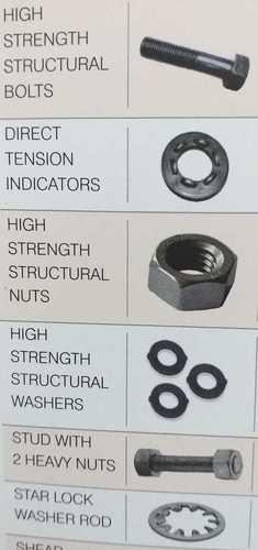 Mild Steel Fasteners Nuts Bolts