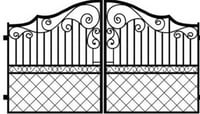 Mild Steel Swing Grill Gate