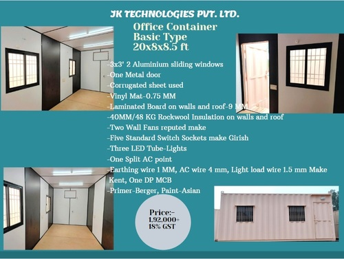 Office Container Basic Type 20x8x8.5 ft