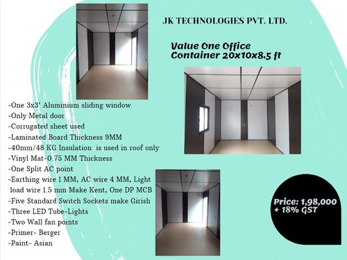Office Container Value One 20x10x8.5 ft