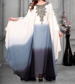White Kaftan Dubai Style Abaya
