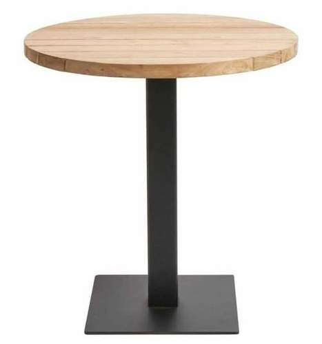 Modern Wooden And Metal Dining Table