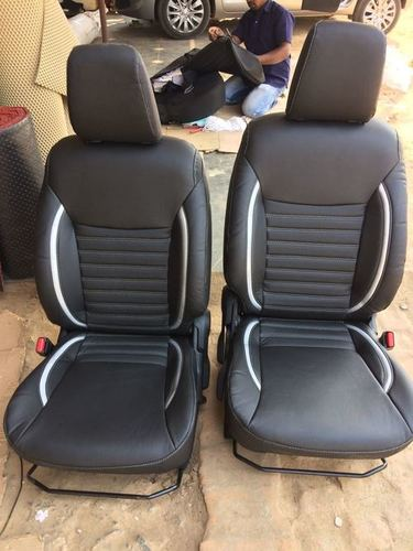 P.U. Leather Black Color Car Seat Cover