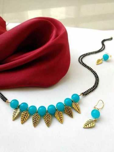 Shiny Look Artificial Beaded Necklace Set