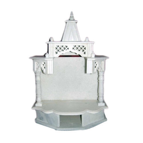 1-1.5 Feet White Marble Temple