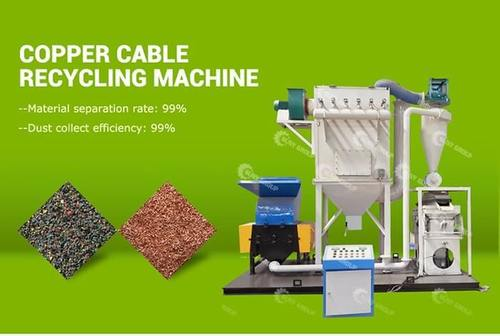 99% Separating Rate Zy-600 Scrap Copper Cable Recycling Machine