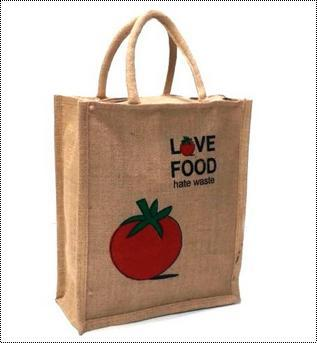 Elegant Look Printed Jute Bag