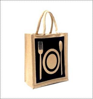 Printed Zipper Jute Bag