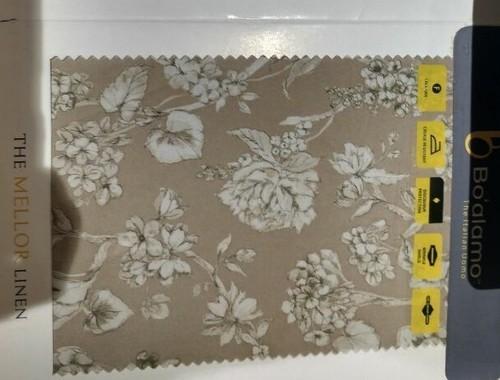 Brown, Golden Digital Printed Fabric