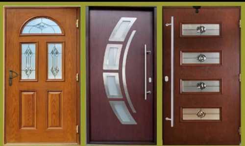 Brown Polished Fibre Doors