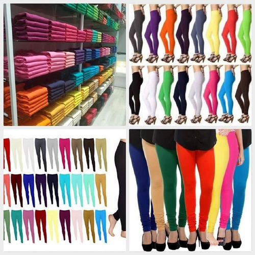 Cotton Lycra Leggings For Ladies