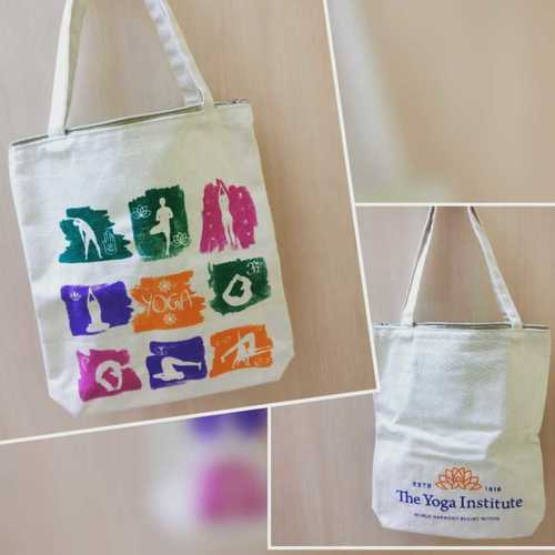 Printed Canvas Bag With Long Handle
