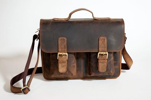 Satchel Leather Laptop Bag