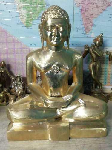 Brass Mahaveer Jain Statue
