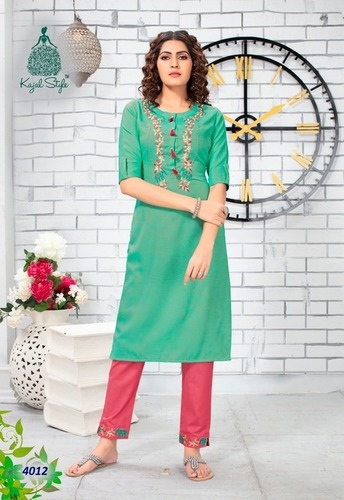 Fancy Embroidery Kurti With Pant