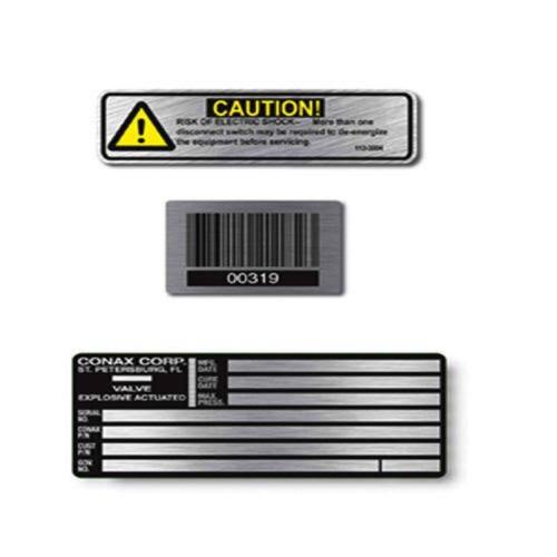 Glossy Finish Aluminium Labels