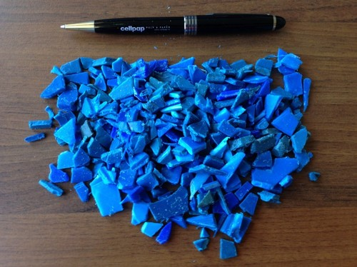 HDPE Blue Drum Regrind Scrap