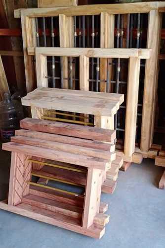 Pure Wooden Plain Window Panel