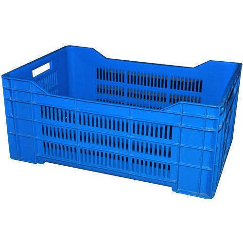 Blue Color Perforated Plastic Crates