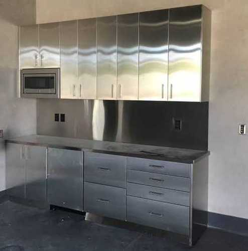 Silver High Strength Stainless Steel Kitchen Cabinets At Price 50000 Inr Piece In Bengaluru Id 6296700