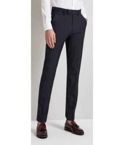 Mens Black Color Trousers