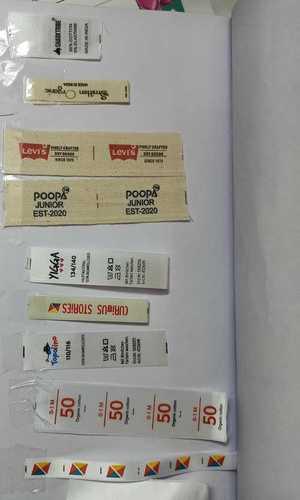 Printed Barcode Labels Sheet