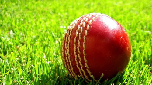 Red Color Leather Cricket Ball