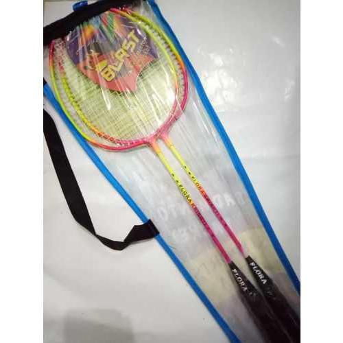 Single Joint Strung Badminton Racket