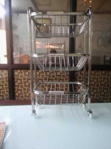 Stainless Steel Kitchen Basket Trolley