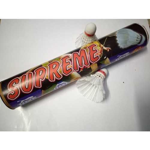 Supreme Feather White Badminton Shuttlecock