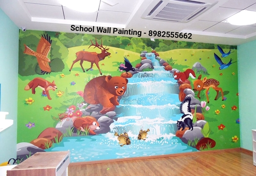 Wall Painting Artist Service for School