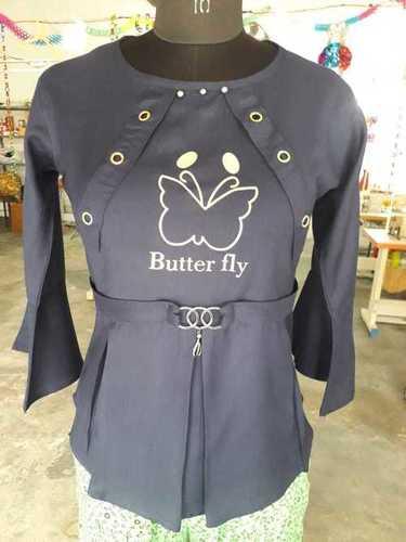 Butterfly Design Ladies Top