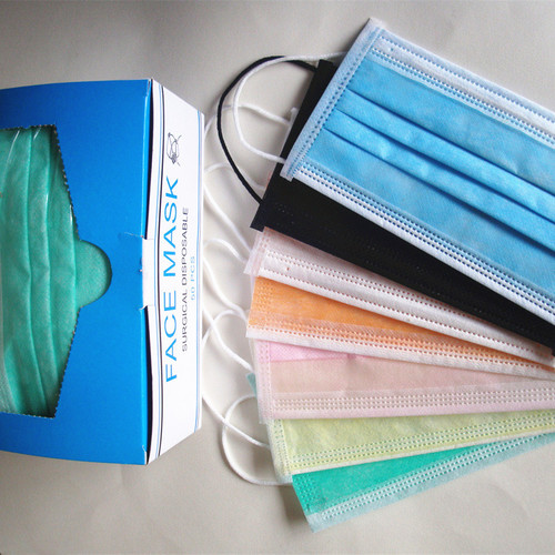 Disposable 3 Ply Nonwoven Surgical Face Mask