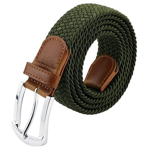 Men Braided Elastic Belt