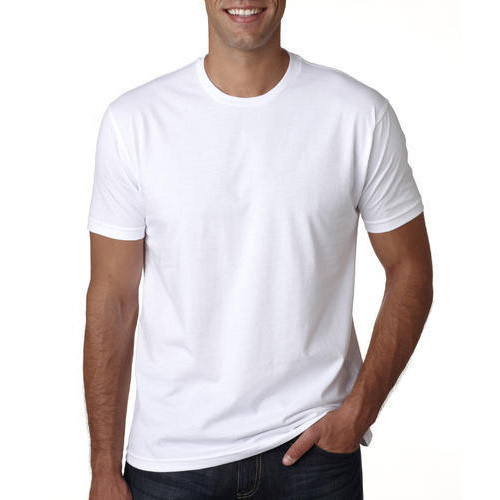 Mens White Plain T Shirt