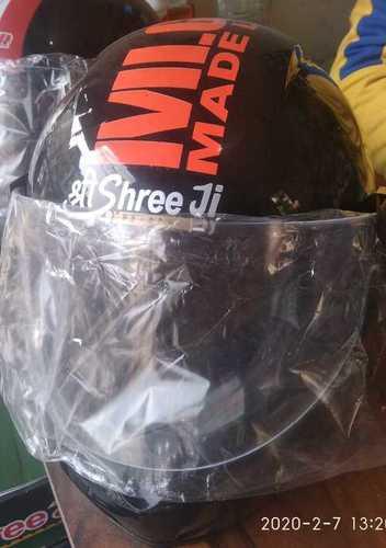 Unbreakable Black Metal Shining Helmet