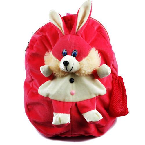 Zipper Closure Rabbit Soft Toy Bag