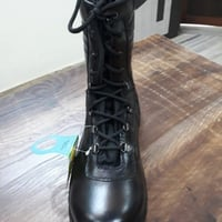 Black Leather Army Shoes