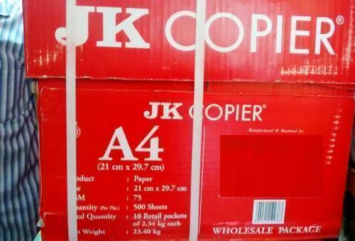JK - 75 GSM, A4 Size Copier Paper
