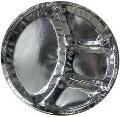 Multicompartment Silver Paper Plate