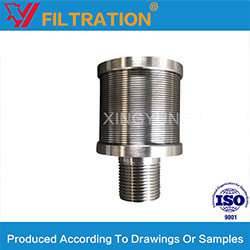 Water Treatment Johnson Wedge Wire Filter Nozzle Strainer