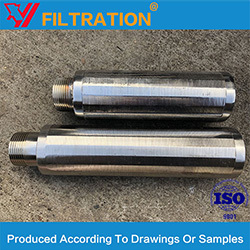 Wedge Wire Cylindrical Strainers Wire Wrapped Screen