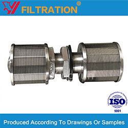 Wedge Wire Single Or Double Filter Nozzle Screen For Water Treatment
