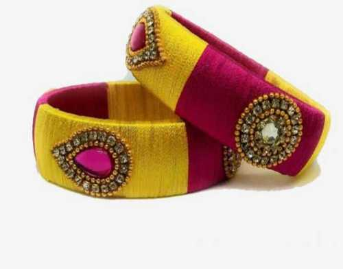 Colorful Silk Threat Bangles