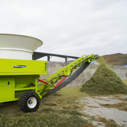 Gengze PTO Tub Roto Hay Bale Processor Grinder Used In R Kneading Straw For Cattle Feeding