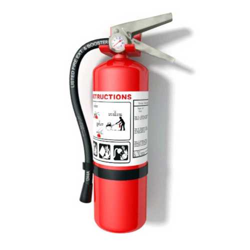 Red Portable Fire Extinguisher