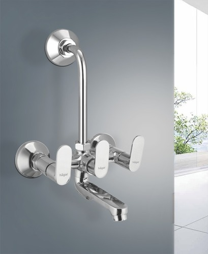 Grey Olive Wall Mixer With L Pipe Bend, Crutch