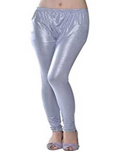 Skin Friendly Ladies Silver Shimmer Leggings