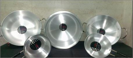 Aluminium Polished Mirror Finished Kadhai, For Cooking