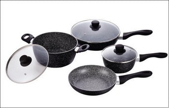 High Strength Marble Coated Cookware Sets For Cooking